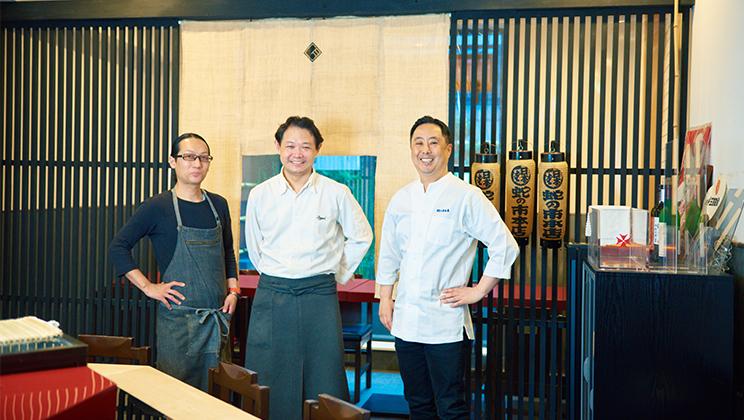 """街の繋がりから生まれた多彩な飲食店ビル。3人の料理人が描く""""垣根のない街""""の未来。"""